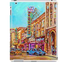 ST.CATHERINE STREET VINTAGE CITY SCENE PAINTINGS iPad Case/Skin