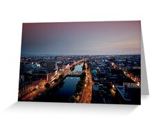 Dublin City, Ireland. Greeting Card
