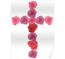 Flower Cross Poster