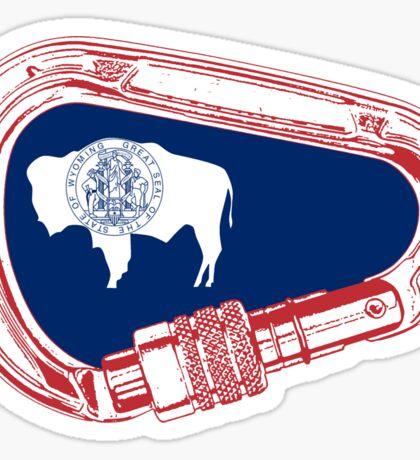 Wyoming Flag Climbing Carabiner Sticker