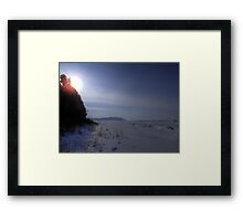 Desolate Winter Lake Framed Print