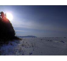 Desolate Winter Lake Photographic Print