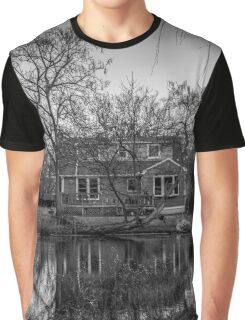 House By The Pond | Blue Point, New York Graphic T-Shirt