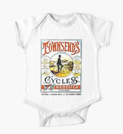 TOWNSEND CYCLES; Vintage Bicycle Advertising Print One Piece - Short Sleeve