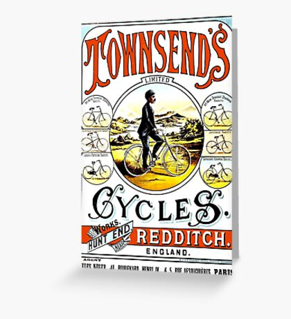 TOWNSEND CYCLES; Vintage Bicycle Advertising Print Greeting Card