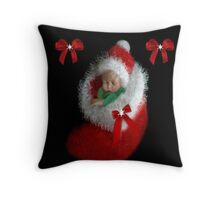 ☃ ☃ JOY TOO THE WORLD FESTIVE PILLOW BABYS FIRST CHRISTMAS AVAILABLE AS TOTE BAG A PRECIOUS GIFT☃ ☃  Throw Pillow