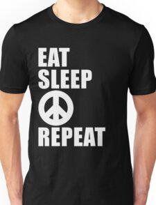 Eat Sleep Peace Repeat Cute For T Shirt Man Men Woman Women Peace Sign Anti War Lover Cute Funny Gift Party Unisex T-Shirt