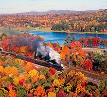 N&W #611 Passing Lake Ponderosa Near Oneida, TN - 3:2 by TrainmasterBob