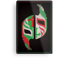 """Máscara Misteriosa"" Wrestling Design (Black) Metal Print"