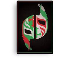 """Máscara Misteriosa"" Wrestling Design (Black) Canvas Print"