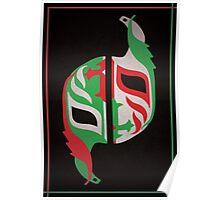 """Máscara Misteriosa"" Wrestling Design (Black) Poster"