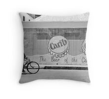 rush hour in barbados Throw Pillow