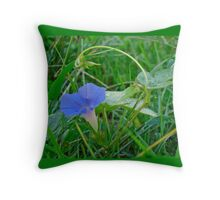 Ivy-Leaf Morning Glory Wildflower - Ipomoea hederacea Throw Pillow