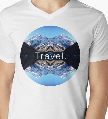 Travel. Mount Cook Mens V-Neck T-Shirt