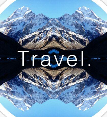 Travel. Mount Cook Sticker