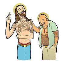 Jesus and Buddha Laughing - Brotherly Love by Javis  White