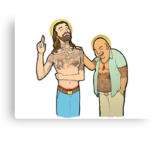 Jesus and Buddha Laughing - Brotherly Love Canvas Print