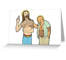 Jesus and Buddha Laughing - Brotherly Love Greeting Card