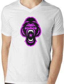 Pink Gorilla Mens V-Neck T-Shirt