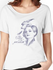 Stay Peculiar Women's Relaxed Fit T-Shirt