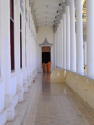 Cambodian Monks by Sarah Jones