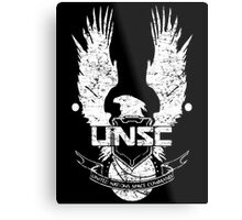 UNSC LOGO HALO 4 - GRUNT DISTRESSED LOOK Metal Print