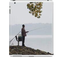 Fishing in fog iPad Case/Skin