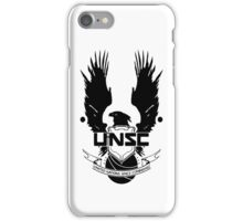 UNSC LOGO HALO 4 - CLEAN LOGO IN BLACK iPhone Case/Skin