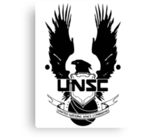 UNSC LOGO HALO 4 - CLEAN LOGO IN BLACK Canvas Print