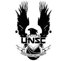 UNSC LOGO HALO 4 - CLEAN LOGO IN BLACK Photographic Print