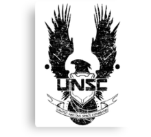 UNSC LOGO HALO 4 - GRUNT DISTRESSED LOOK Canvas Print