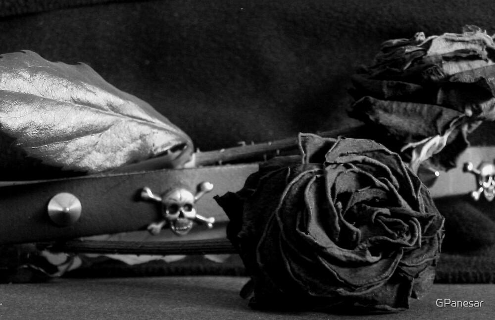 skulls,spikes & roses by GPanesar