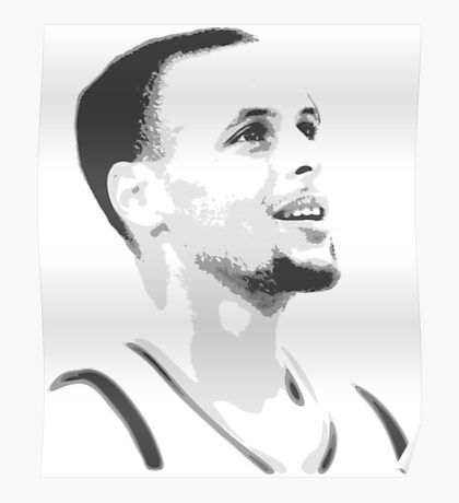 Steph Curry Black And White Poster