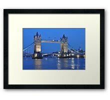 Tower Bridge Blues Framed Print