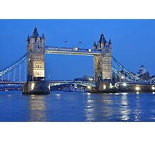 Tower Bridge Blues Photographic Print