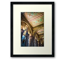 A ceiling at the Natural History Museum, London, England Framed Print