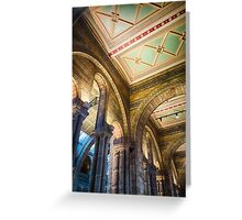 A ceiling at the Natural History Museum, London, England Greeting Card