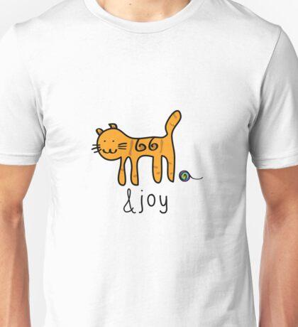 Cute Cat &joy Doodle Graphic Design Unisex T-Shirt