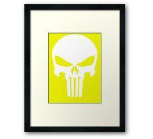 Punisher (white) Framed Print