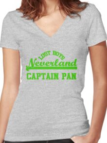 Neverland Lost Boys - Captain Pan Women's Fitted V-Neck T-Shirt