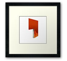 Glitch Homes Wallpaper hell fire left open Framed Print
