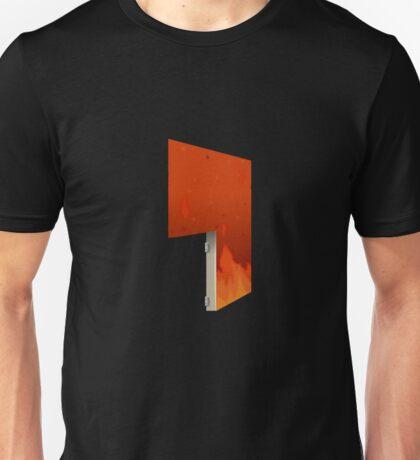 Glitch Homes Wallpaper hell fire left open Unisex T-Shirt