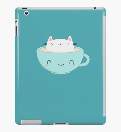 Cute Coffee Cat iPad Case/Skin
