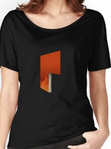 Glitch Homes Wallpaper hell fire right divide Women's Relaxed Fit T-Shirt