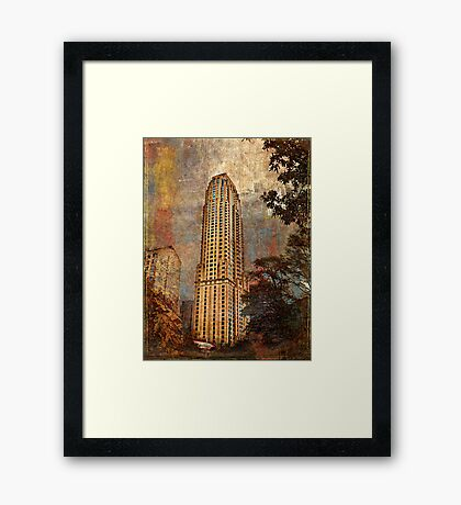 And the city grew Framed Print