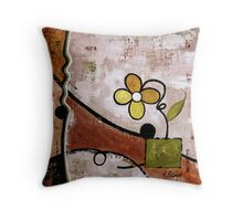 Frisky Floral Throw Pillow