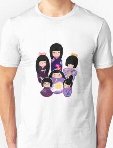 Kokeshi in Purple T-Shirt