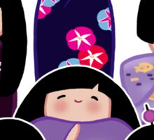 Kokeshi in Purple Sticker