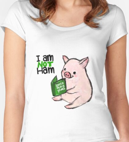 I Am Not Ham! Piglet Women's Fitted Scoop T-Shirt