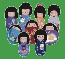 Kokeshi in Bloom Kids Clothes